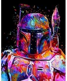 Картина по номерам Звездные войны Боба Фетт 40 х 50 см (VP1072)