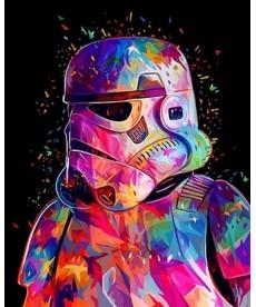 Картина по номерам Звездные войны Штурмовик 40 х 50 см (VP1074)