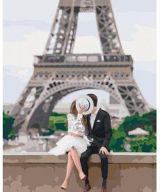 Картина по номерам Парочка в Париже 40 х 50 см (KH4531)
