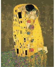 Картина по номерам Поцелуй Густав Климт 2 40 х 50 см (KHO4534)