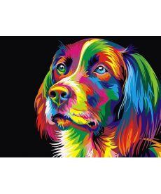 Картина по номерам Радужный пес 40 х 50 см (BK-GEX5251)
