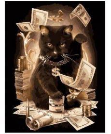 Картина по номерам Денежный кот 40 х 50 см (BK-GX8911)
