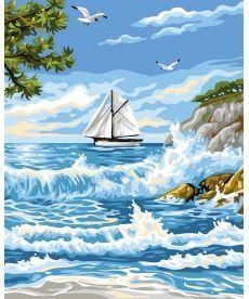 Картина по номерам Островной прибой 40 х 50 см (BK-GX24116)
