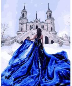 Картина по номерам Сапфировое платье 40 х 50 см (BK-GX26280)
