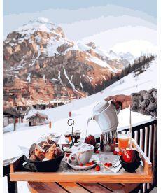 Картина по номерам Завтрак у швейцарских гор 40 х 50 см (BK-GX26239)