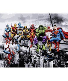 Картина по номерам Супергерои 40 х 50 см (BK-GX25864)