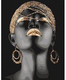 Картина по номерам Африканская принцесса 40 х 50 см (KHO4559)