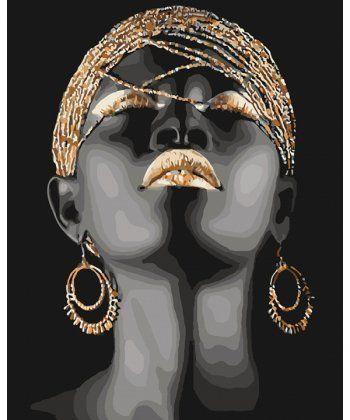 Картина по номерам Африканская принцесса 40 х 50 см (KHO4559)  - Фото 1