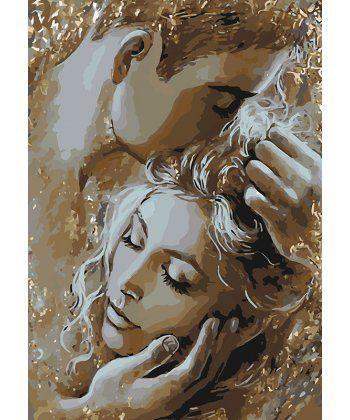 Картина по номерам Золотые объятия 35 х 50 см (KHO4563)  - Фото 1