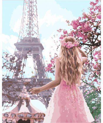 Картина по номерам Влюбленная в Париж 40 х 50 см (KHO4568)  - Фото 1