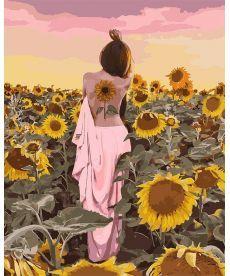 Картина по номерам Подсолнуховое счастье 40 х 50 см (KHO4570)
