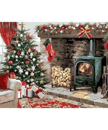 Картина по номерам Рождественский очаг 40 х 50 см (BK-GX21291)  - Фото 1