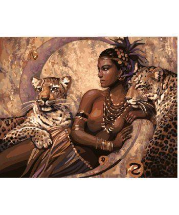 Картина по номерам Повелительница царства зверей 40 х 50 см (BK-GX22062)  - Фото 1