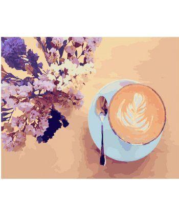 Картина по номерам Лавандовый кофе 40 х 50 см (BK-GX22206)  - Фото 1