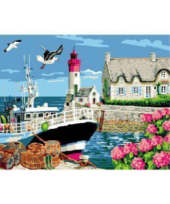 Картина по номерам Маяк, дом смотрителя 40 х 50 см (BK-GX24098)  - Фото 1