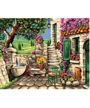 Картина по номерам Каменный дворик 40 х 50 см (BK-GX24103)  - Фото 1