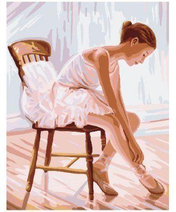 Картина по номерам Балерина в нежно розовом 40 х 50 см (BK-GX24134)  - Фото 1