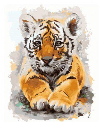 Картина по номерам Тигрик 40 х 50 см (BK-GX24302)  - Фото 1