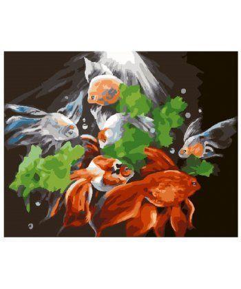 Картина по номерам Таинственные рыбы 40 х 50 см (BK-GX24602)  - Фото 1