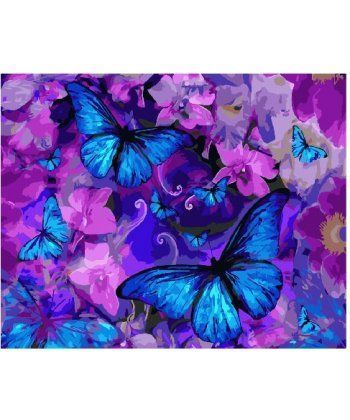 Картина по номерам Магические бабочки в цветах 40 х 50 см (BK-GX25148)  - Фото 1