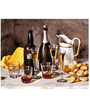 Картина по номерам Натюрморт с белым вином 40 х 50 см (BK-GX25157)  - Фото 1