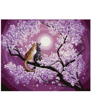 Картина по номерам Мартовские кошки на сакуре 40 х 50 см (BK-GX25193)  - Фото 1