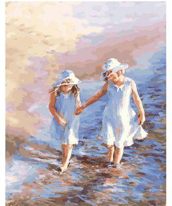 Картина по номерам Детки у моря 40 х 50 см (BK-GX25242)  - Фото 1