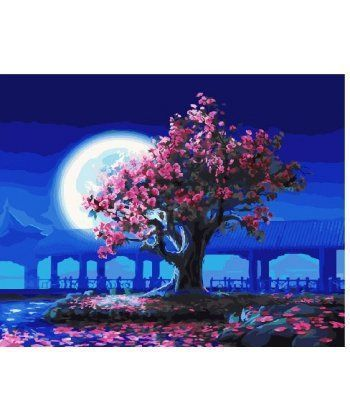 Картина по номерам Лунная сакура 40 х 50 см (BK-GX25275)  - Фото 1