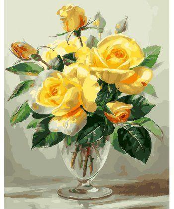 Картина по номерам Желтые розы 40 х 50 см (BK-GX25322)  - Фото 1