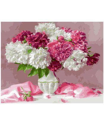 Картина по номерам Розовый натюрморт с пионами 40 х 50 см (BK-GX25351)  - Фото 1