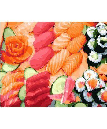 Картина по номерам Суши сет 40 х 50 см (BK-GX25463)  - Фото 1