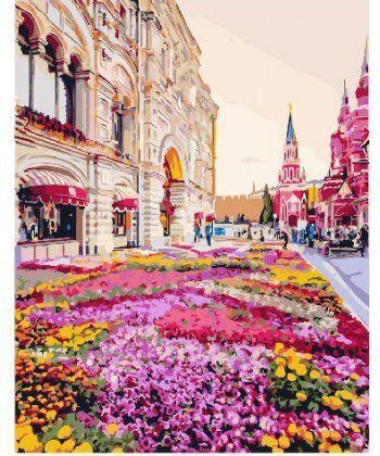 Картина по номерам Розовая клумба 40 х 50 см (BK-GX25493)  - Фото 1
