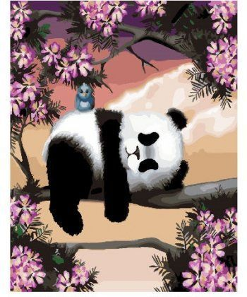 Картина по номерам Сонная панда 40 х 50 см (BK-GX25499)  - Фото 1