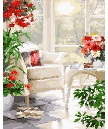Картина по номерам Белая терасса 40 х 50 см (BK-GX25509)  - Фото 1