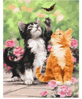 Картина по номерам Весенние котята 40 х 50 см (BK-GX25640)  - Фото 1