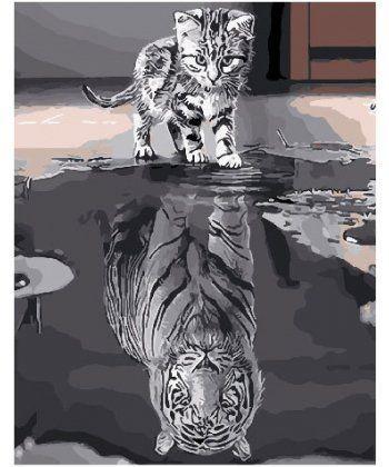 Картина по номерам Душа тигра 40 х 50 см (BK-GX25713)  - Фото 1