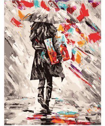 Картина по номерам Художница под зонтом 40 х 50 см (BK-GX25784)  - Фото 1