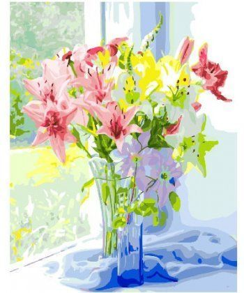 Картина по номерам Весенний букет лилий 40 х 50 см (BK-GX25826)  - Фото 1