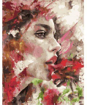 Картина по номерам Девушка в красочных цветах 40 х 50 см (BK-GX25845)  - Фото 1