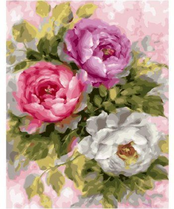 Картина по номерам Пионовые розы 40 х 50 см (BK-GX25869)  - Фото 1