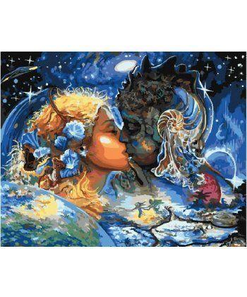 Картина по номерам Поцелуй вселенных 40 х 50 см (BK-GX26043)  - Фото 1