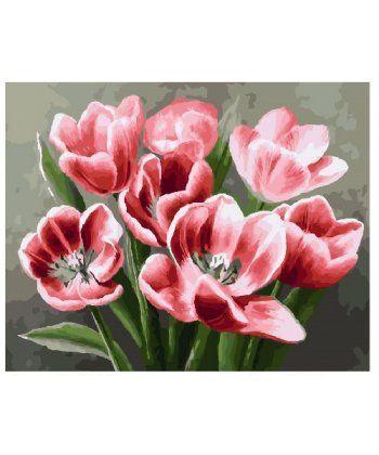 Картина по номерам Красные тюльпаны 40 х 50 см (BK-GX26071)  - Фото 1