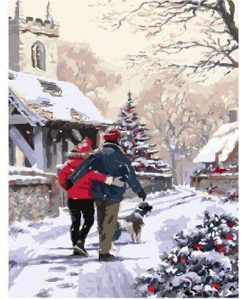 Картина по номерам Канун Рождества 40 х 50 см (BK-GX3920)  - Фото 1