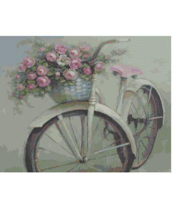 Картина по номерам Велосипед и цветы 40 х 50 см (BK-GX4916)  - Фото 1