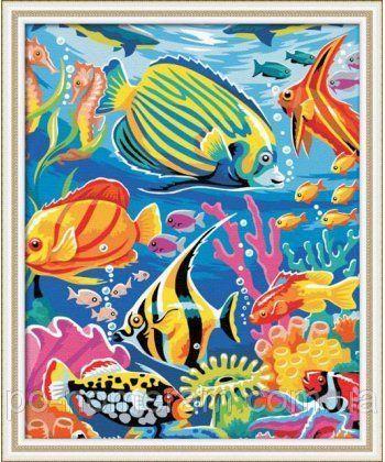 Картина по номерам Рыбный мир 40 х 50 см (KHO007)  - Фото 1