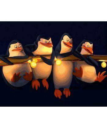 Картина по номерам Пингвины Мадагаскар 40 х 50 см (MR-Q2186)  - Фото 1