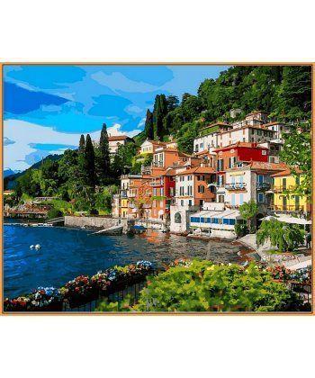 Картина по номерам Италия Озеро Комо (в раме) 40 х 50 см (NB1086R)  - Фото 1