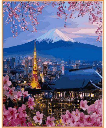 Картина по номерам Путешествие по Японии (в раме) 40 х 50 см (NB1112R)  - Фото 1