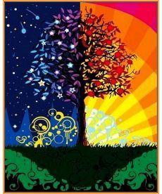 Картина по номерам Дерево счастья (в раме) 40 х 50 см (NB224R)