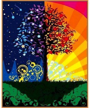 Картина по номерам Дерево счастья (в раме) 40 х 50 см (NB224R)  - Фото 1